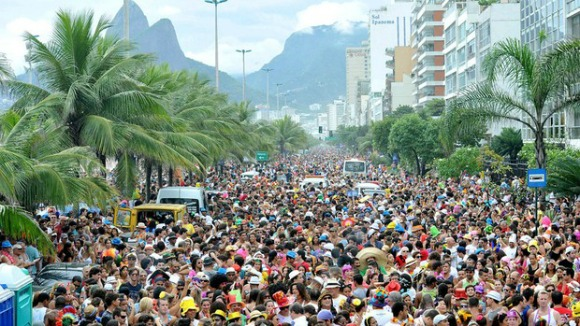 A Bloco (Street Party) at Rio Carnival