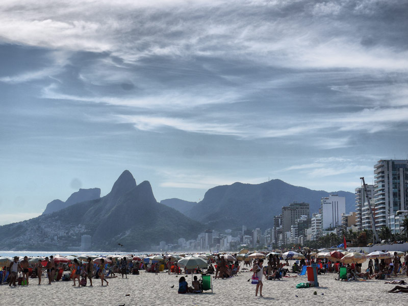 Ipanema Beach - No Boobs, Just Trendy Cariocas With Umbrellas
