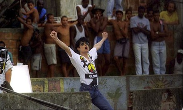 Micael Jackson Filming his Music Video at Santa Marta Favela in 1996