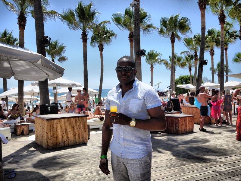Mase Just Having One Drink at Nikki Beach - Marbella, Spain
