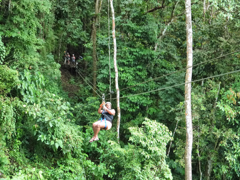 Me (Nat) Zip-Lining Across a Costa Rican Rainforest