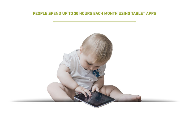 Baby Spending 35 Hours Each Month on Tablet