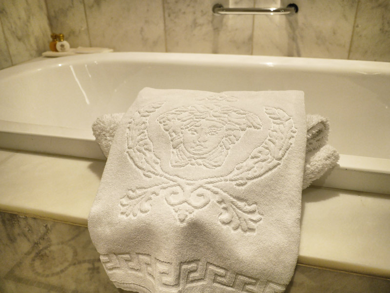 Versace Medusa Head Bath Towels as Standard - How Can One Go Back to Plain White Towels After This? Hehe