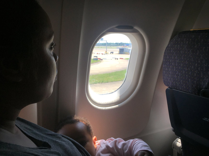 I Breastfeed Layla During Take-off and Landing to Prevent her Experiencing Pain in her Ears from the Air Pressure