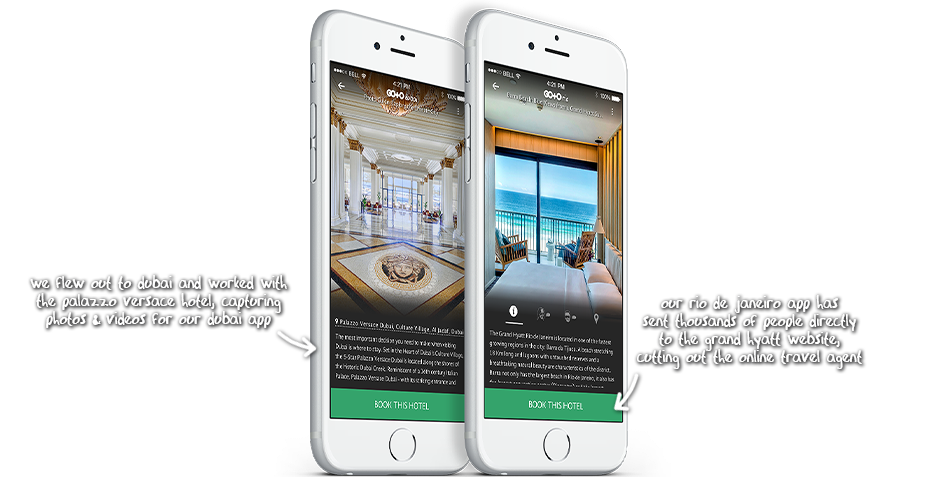 Travel Guide Apps Sponsored by Palazzo Versace and Grand Hyatt