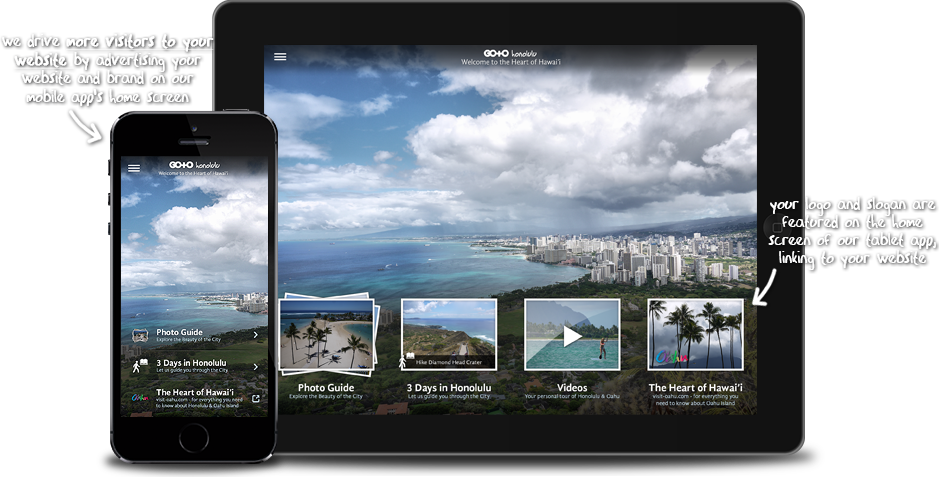 Visual Travel Guide Apps with Mobile Ads on the Home Screen