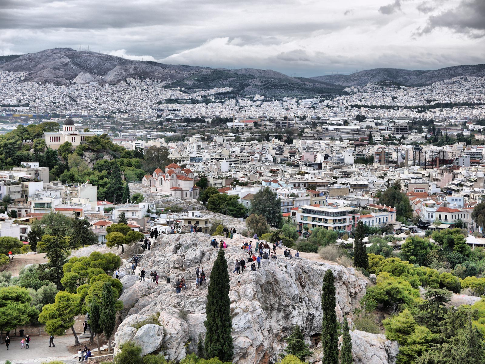 Panoramic Views of Athens From Mars Hill - Athens, Greece