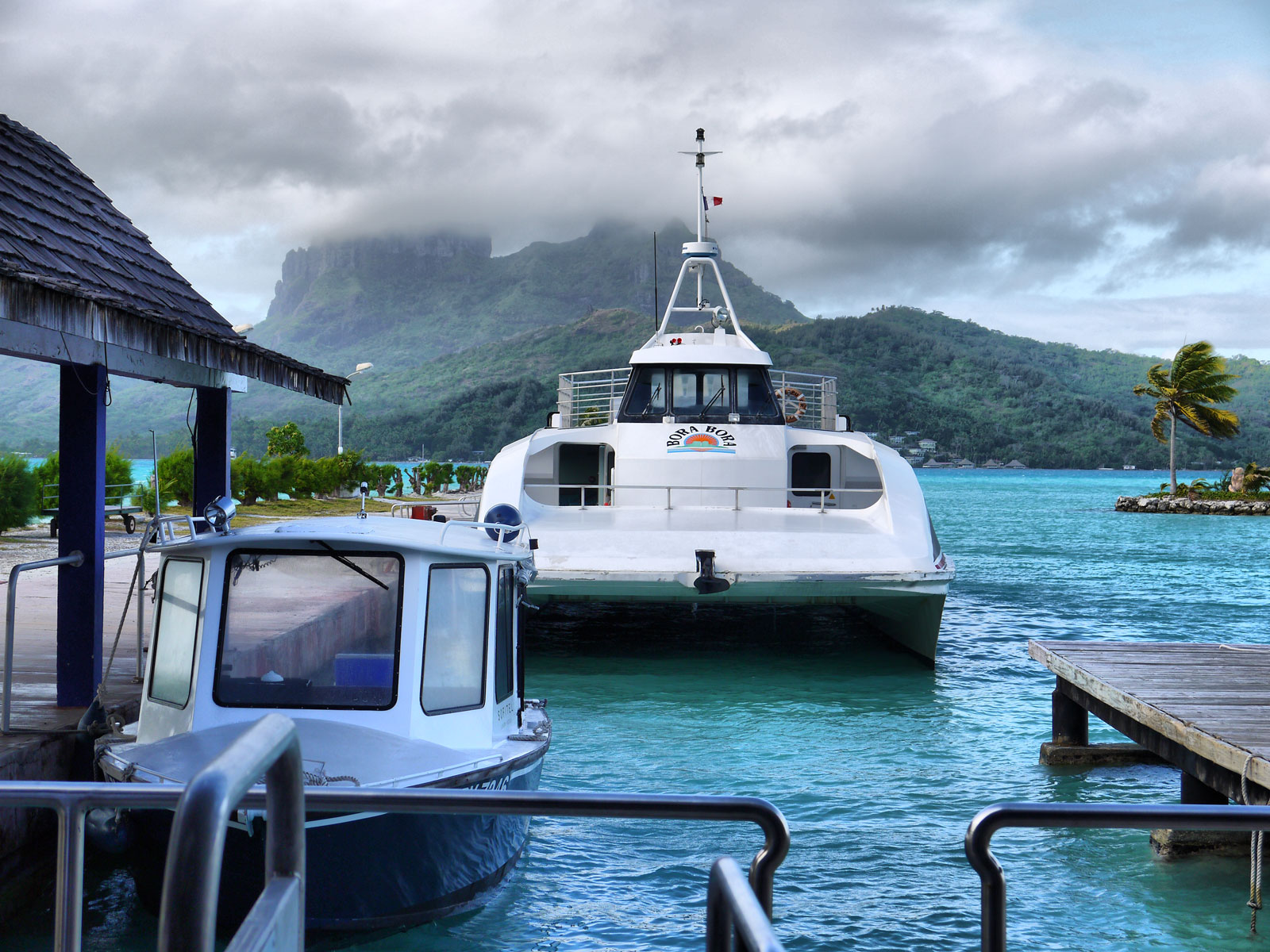 Water Taxi: Cruising From the Airport to the Hotel - Bora Bora, French Polynesia