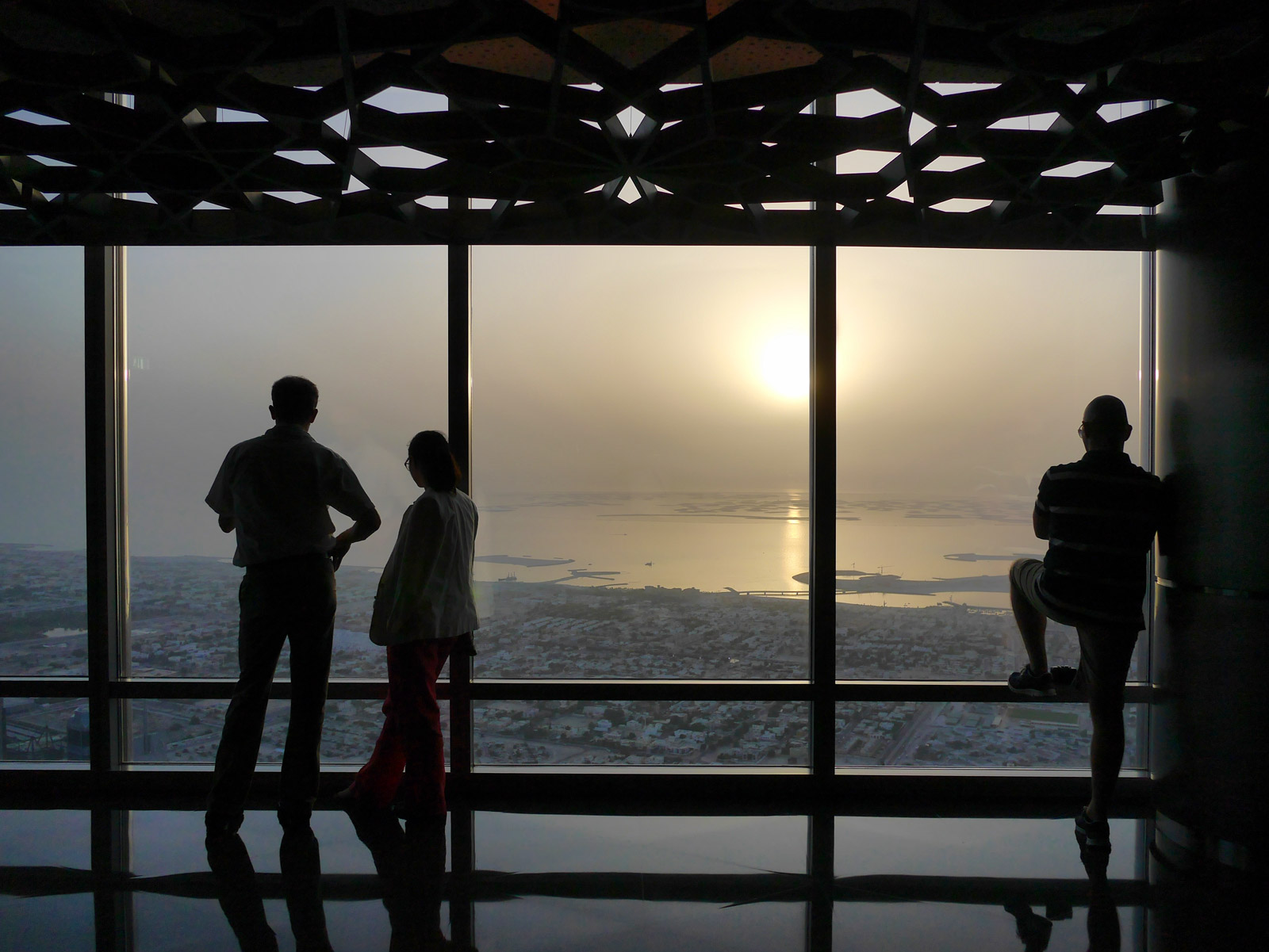 Silhouettes Marvelling at the Arabian Sunset - Dubai, United Arab Emirates