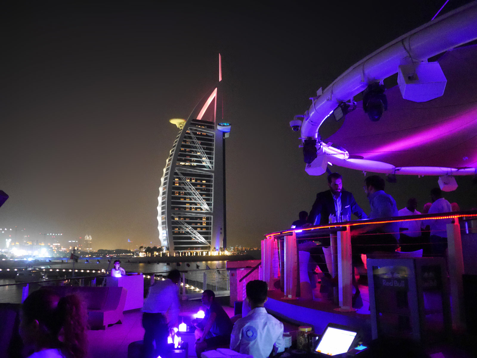 Admiring Burj Al Arab from 360° Bar & Nightclub - Dubai, United Arab Emirates