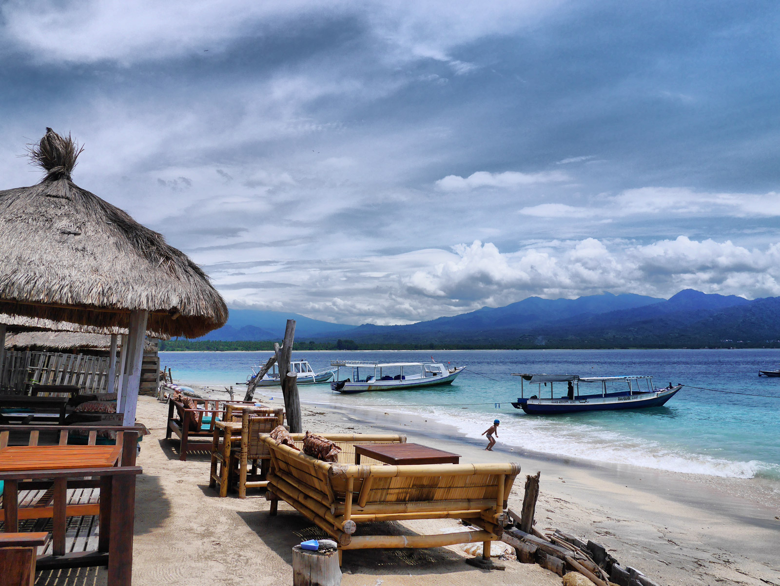 Lunch at the Beach on Gili Air After Snorkelling - Lombok & The Gili Islands, Indonesia