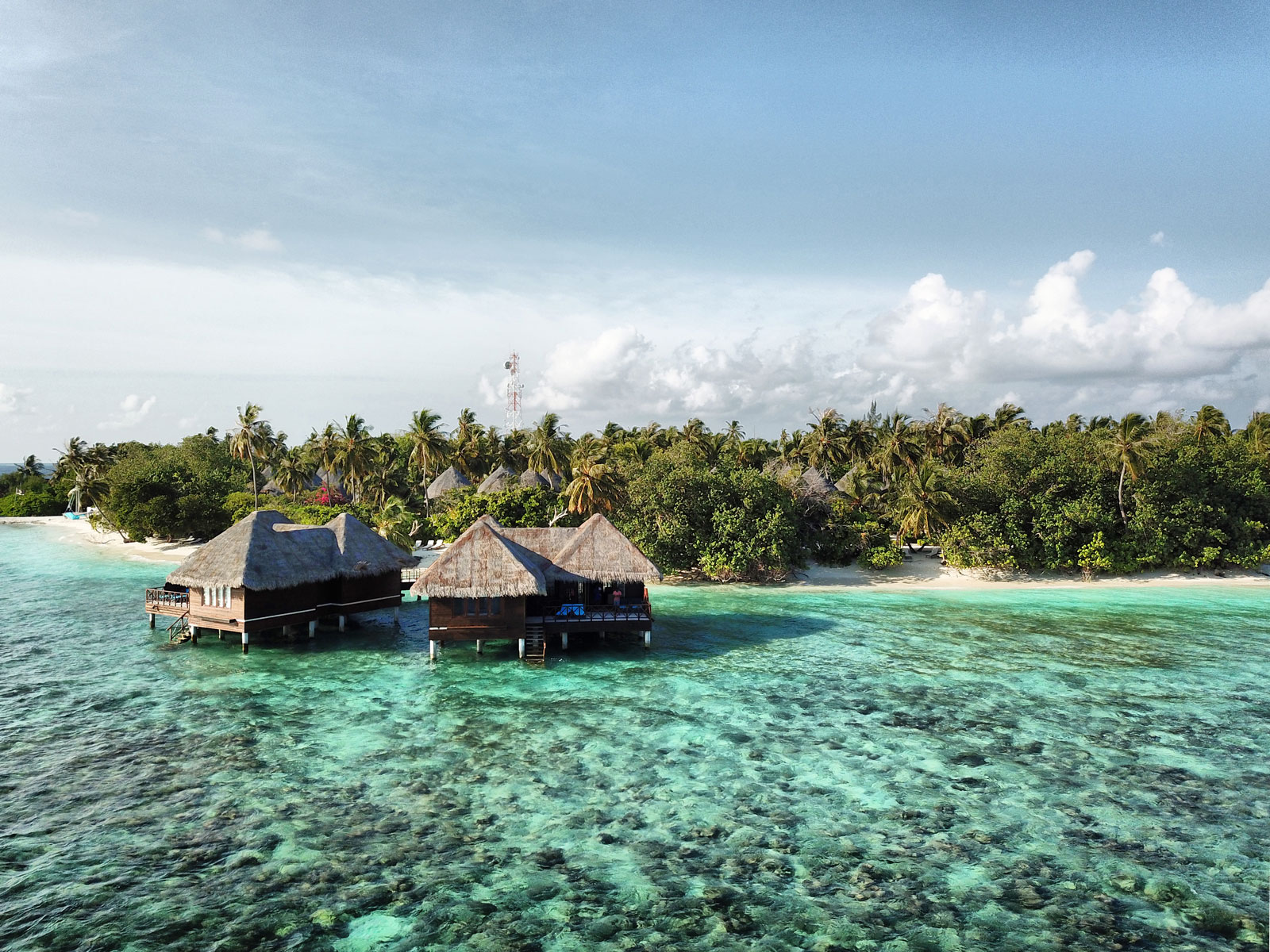 Exploring Coral Reefs from a Water Villa - The Maldives, The Maldives