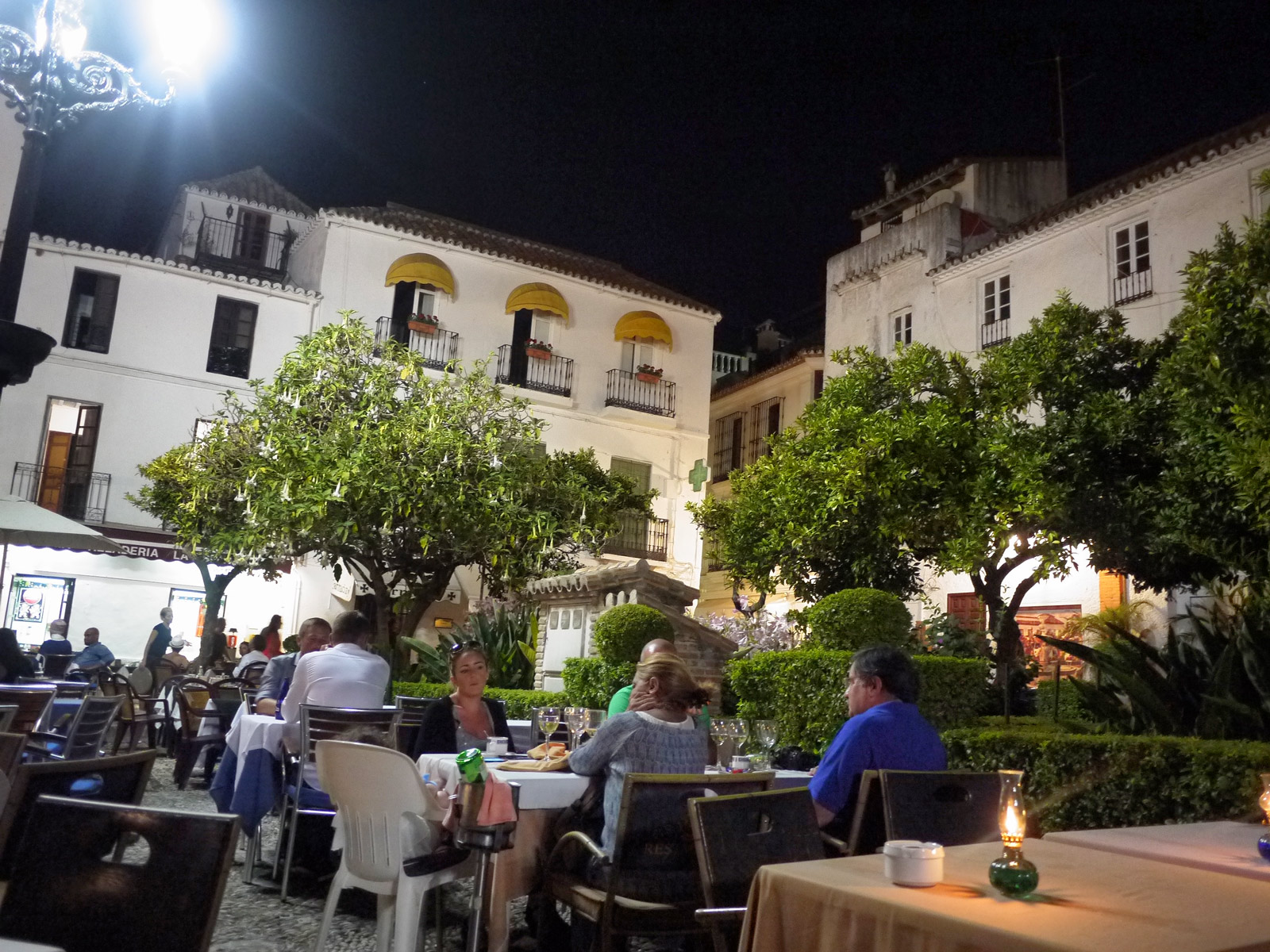 Dinner Under the Stars in Orange Square - Marbella, Spain