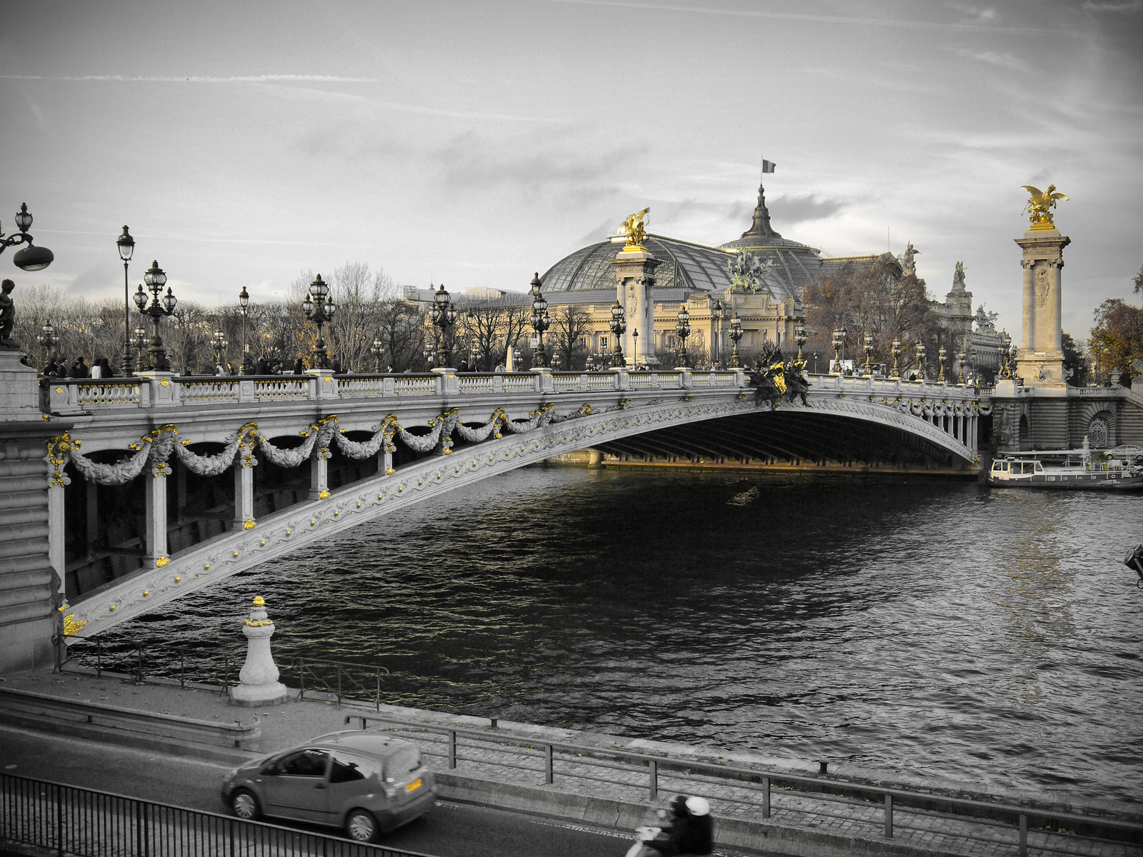 Art Nouveau Design at the Pont Alexandre III - Paris, France