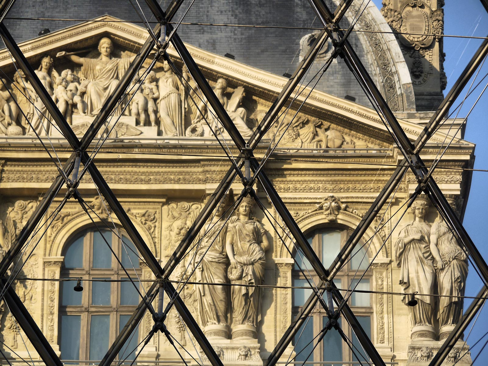 Louvre Palace: From the Inside Looking Out - Paris, France