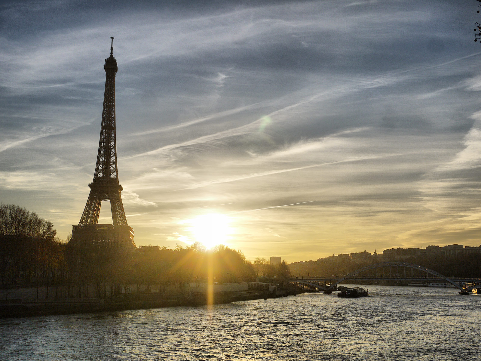 Watching the Sunset Over the River Seine - Paris, France