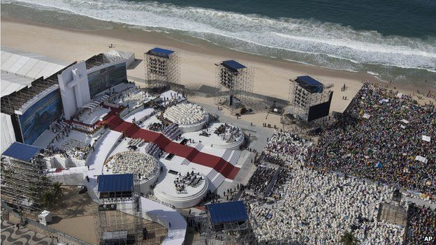Copacabana Beach - Transformed Into a Church for World Youth Day