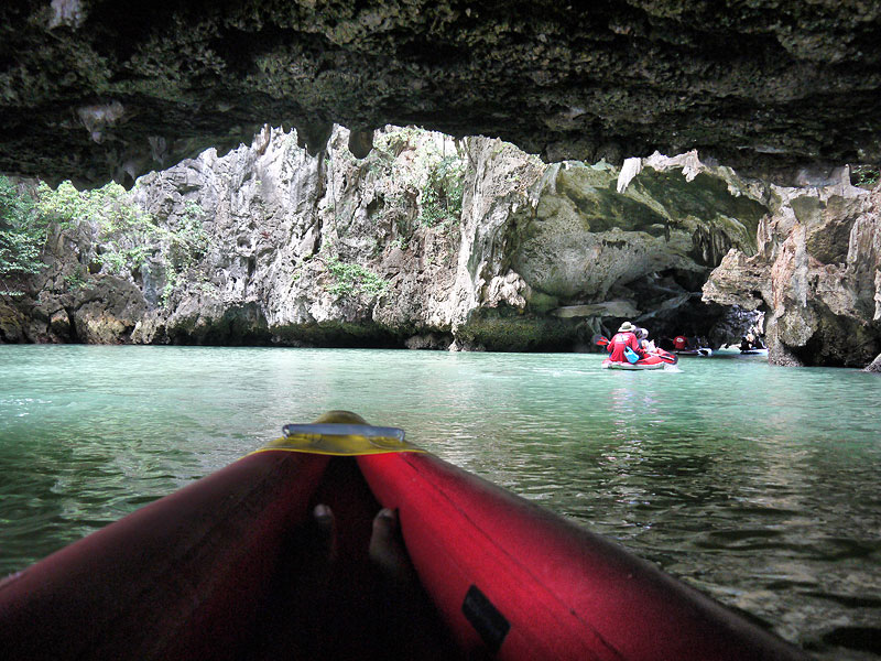 Approaching the Caves Whilst Canoeing In Phang Nga Bay - Phuket, Thailand