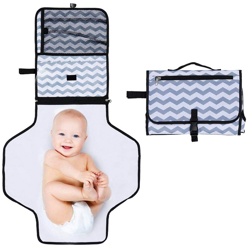 Our Portable Nappy/Diaper Changing Mat is Perfect to Travel with, as if Folds up into a Small Bag