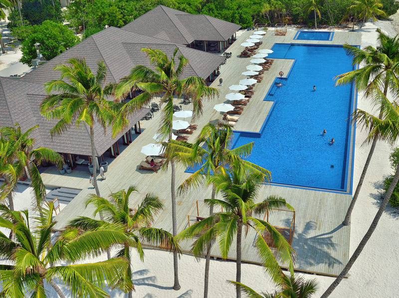 """The """"Liquid Pool"""" at Atmosphere Kanufushi is perfect for the adults and the children in the family"""