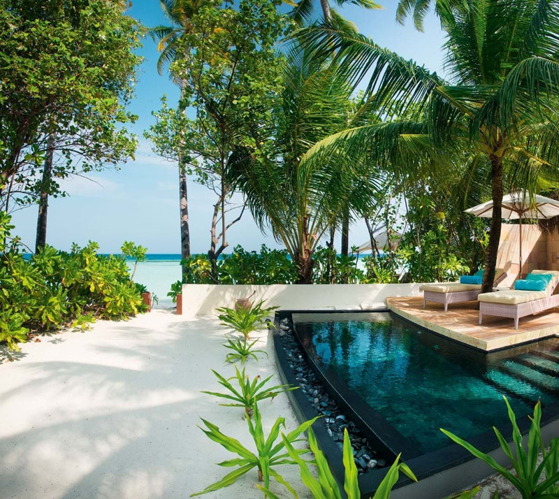 Each Family Beach Villa at Constance Halaveli Comes Complete with a Private Pool, Suitable for all Members of the Family