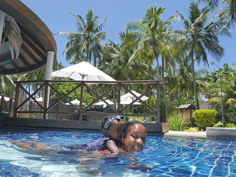 Bandos Maldives Children's Pool is the Perfect Depth for Toddlers to Splash About and Practice Their Swimming