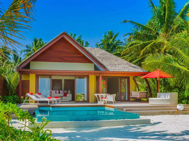 Each of the Family Beach Pool Villas on Niyama Private Islands comes with a Private Pool for Adults and Kids to Enjoy