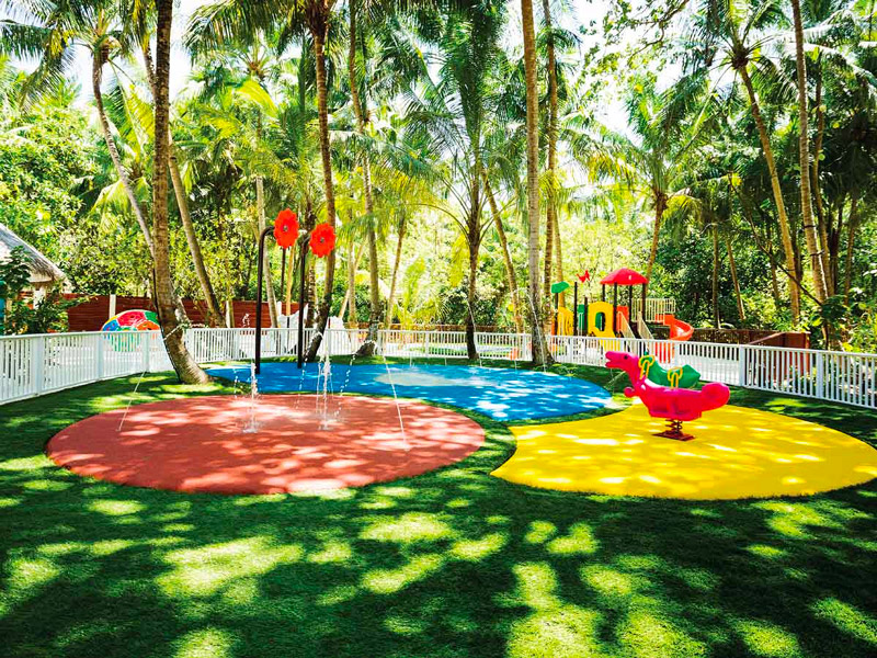Explorers Kids Club has an Outdoor Playground complete with a Splash Park
