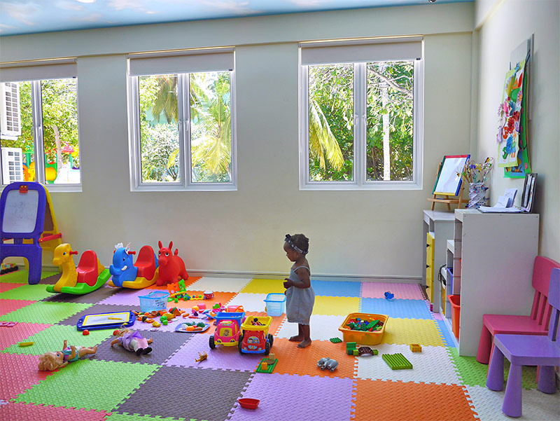 The Indoor Play Rooms at Kokko Kids Club Come Complete with Lego, Duplo, Dolls, Toy Trucks, Whiteboards and Many Other Toys