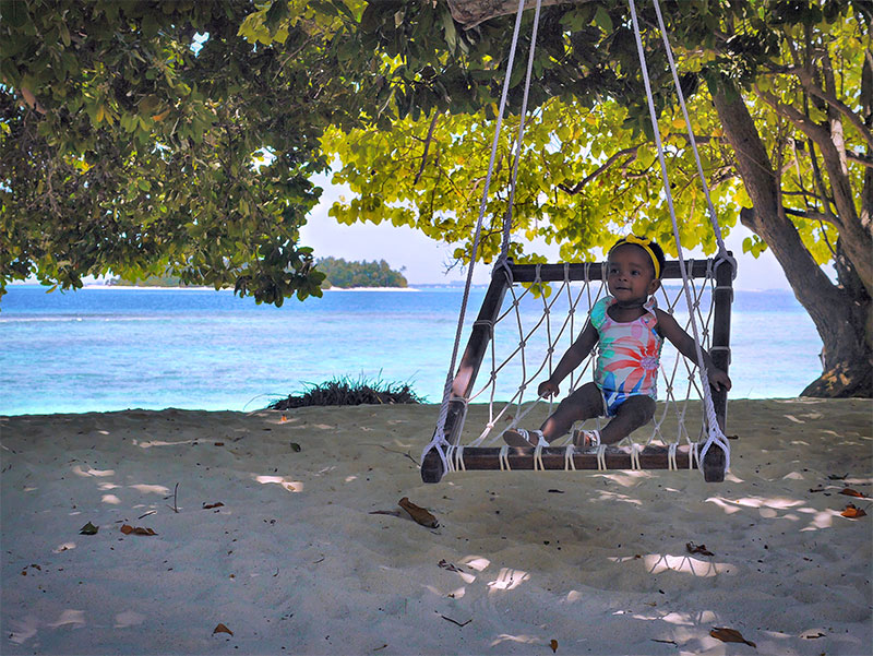These Playful Swings Are Dotted All Around Bandos Maldives Island