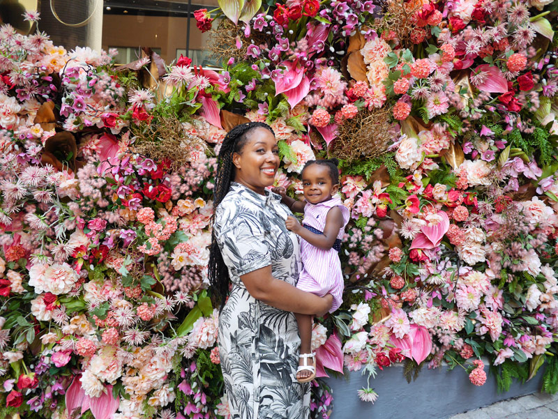 Whether in Soho or Elsewhere, Nat Can't Resist a Flower Wall