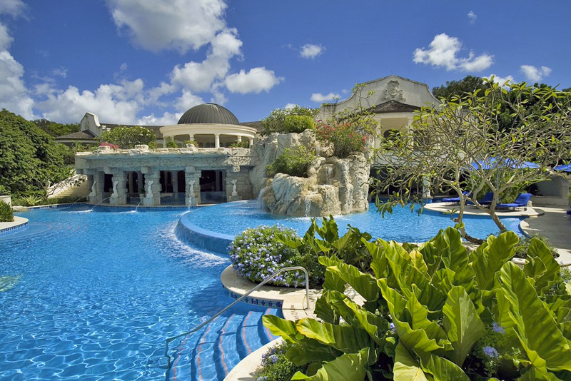 The Multi-Layered Swimming Pool at Sandy Lane - Suitable for All Ages
