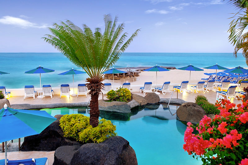 A Scenic Swimming Pool at Crystal Cove - Overlooking a White Sand Beach on Barbados' Platinum Coast