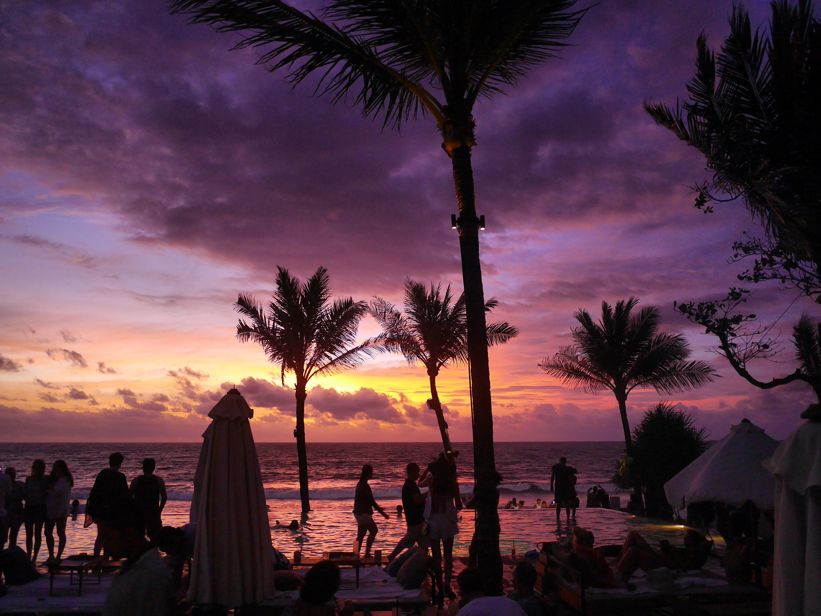 Watching the Sunset at Potato Head Beach Club - Bali, Indonesia
