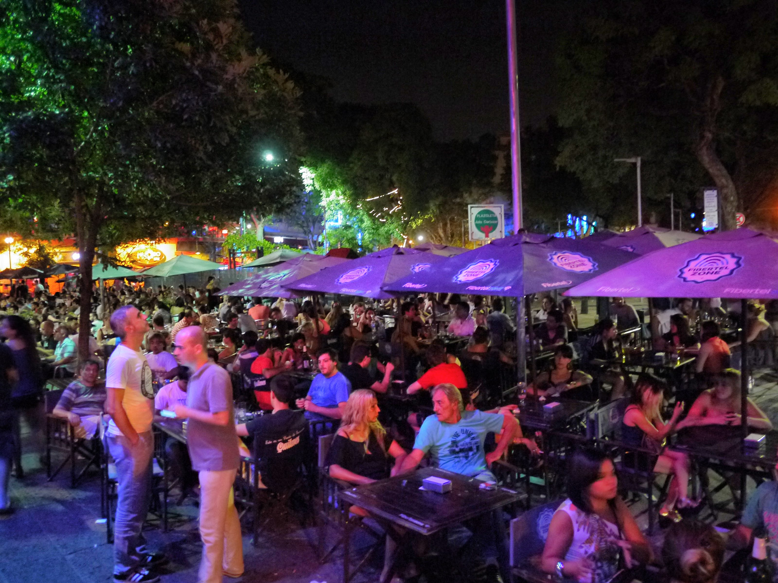Chilled Nightlife at Plaza Serrano in Palermo - Buenos Aires, Argentina