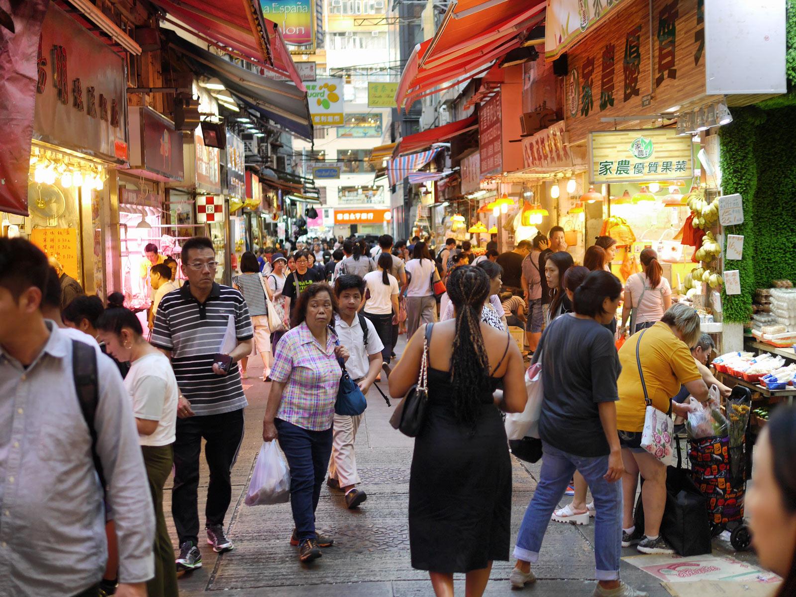 Explore the Bustling Streets of Wan Chai and its Market - Hong Kong, China