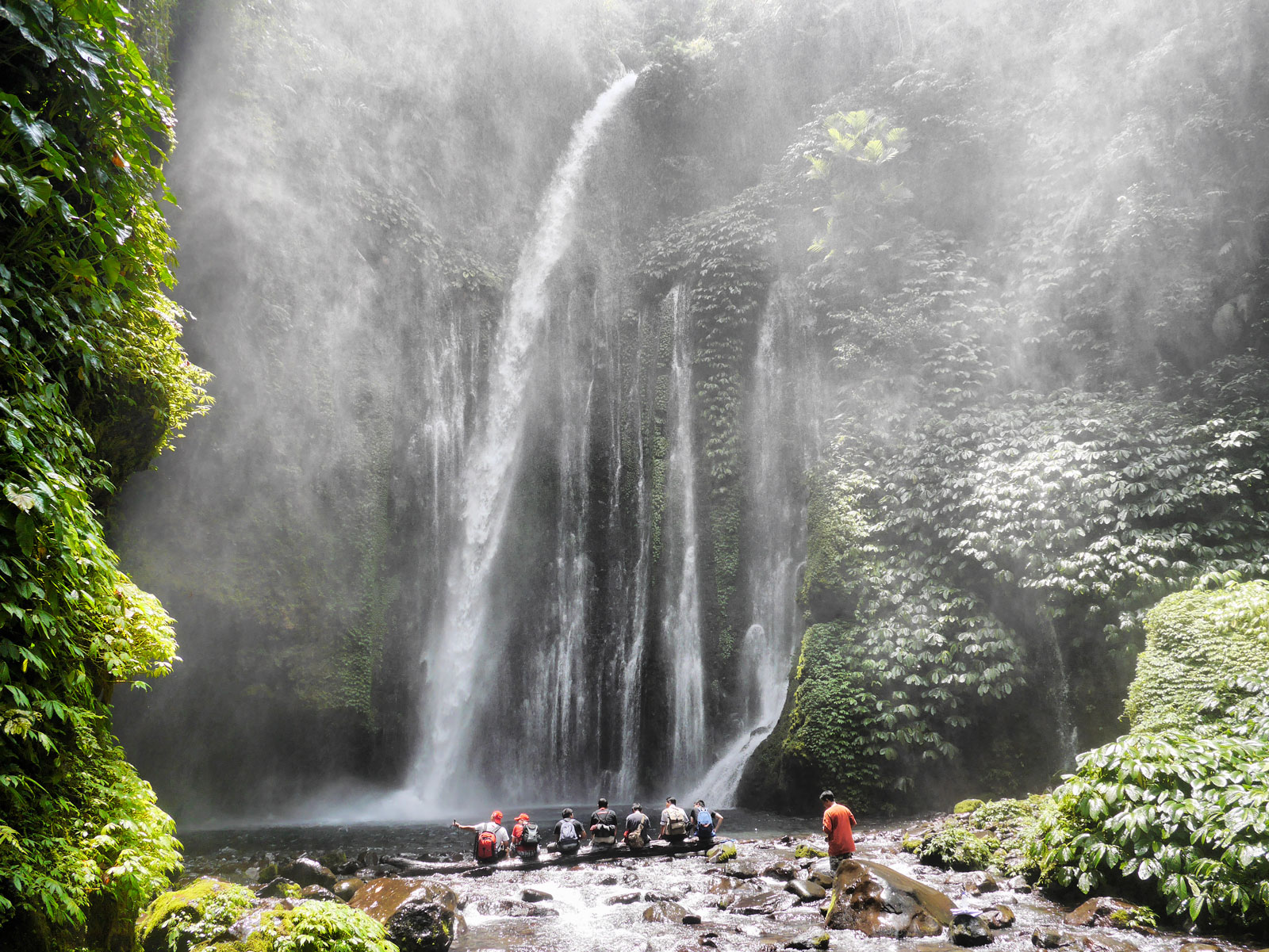 Hiking to Tiu Kelep Waterfall in Mt. Rinjani National Park - Lombok & The Gili Islands, Indonesia
