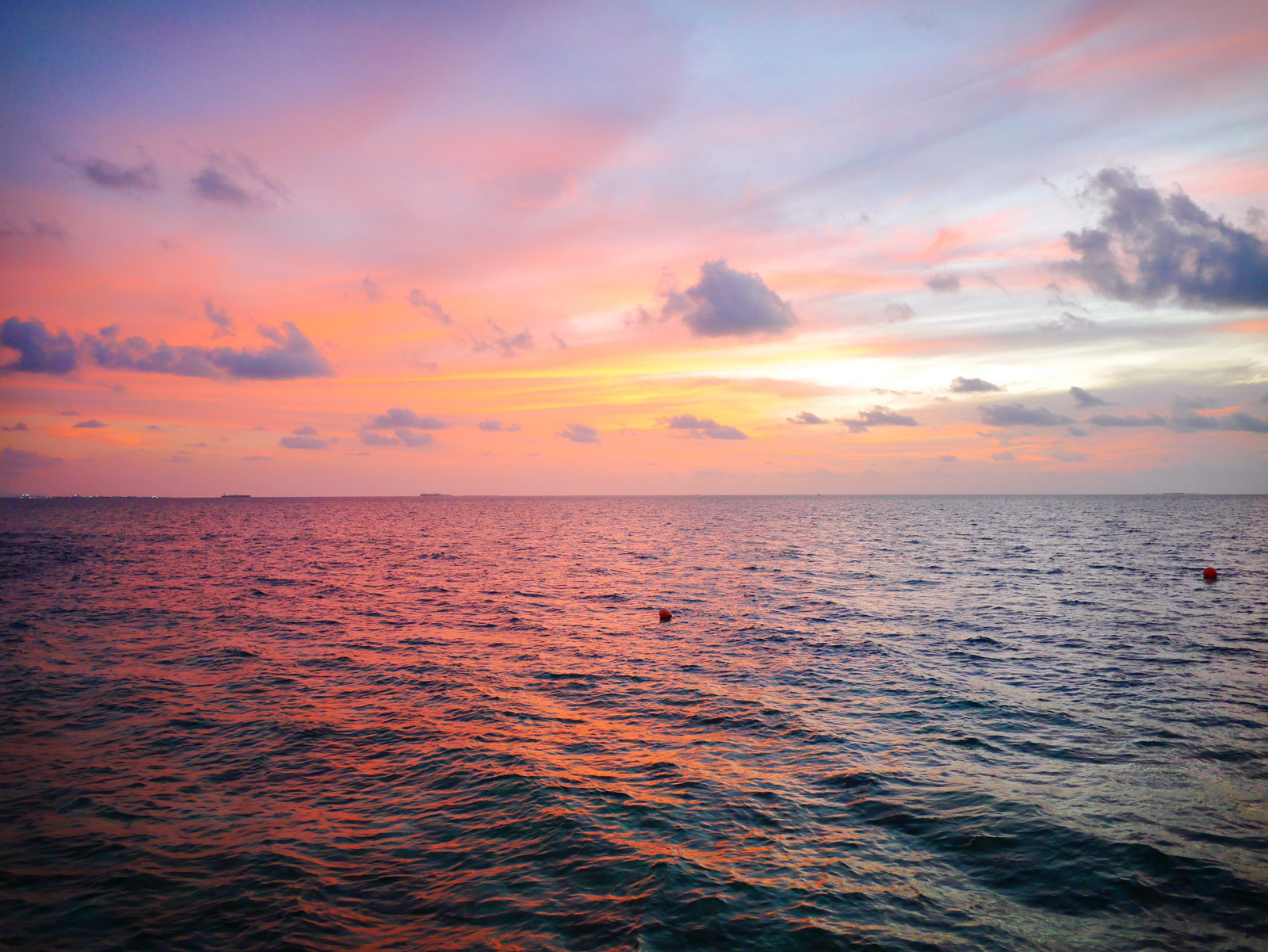 Pink, Purple & Orange Sunsets Paint the Sky - The Maldives, The Maldives