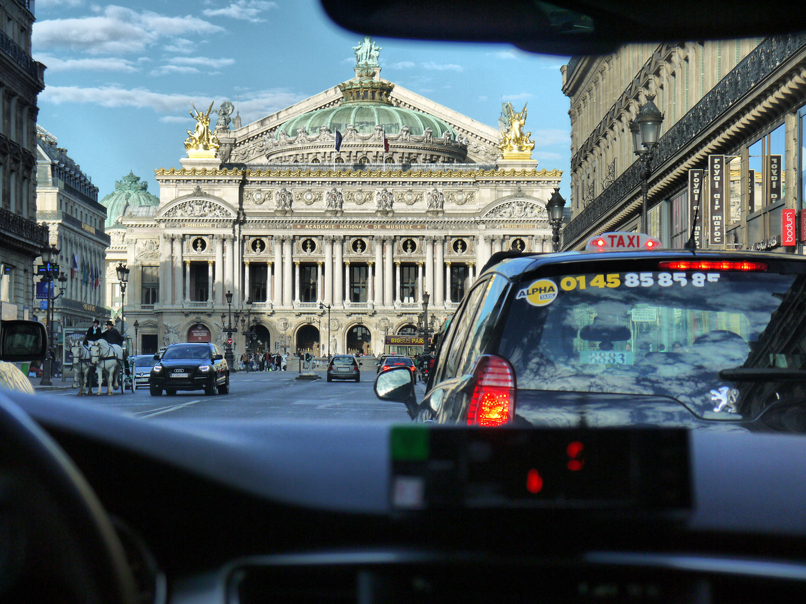 Taking a Taxi Ride Through Paris - Paris, France