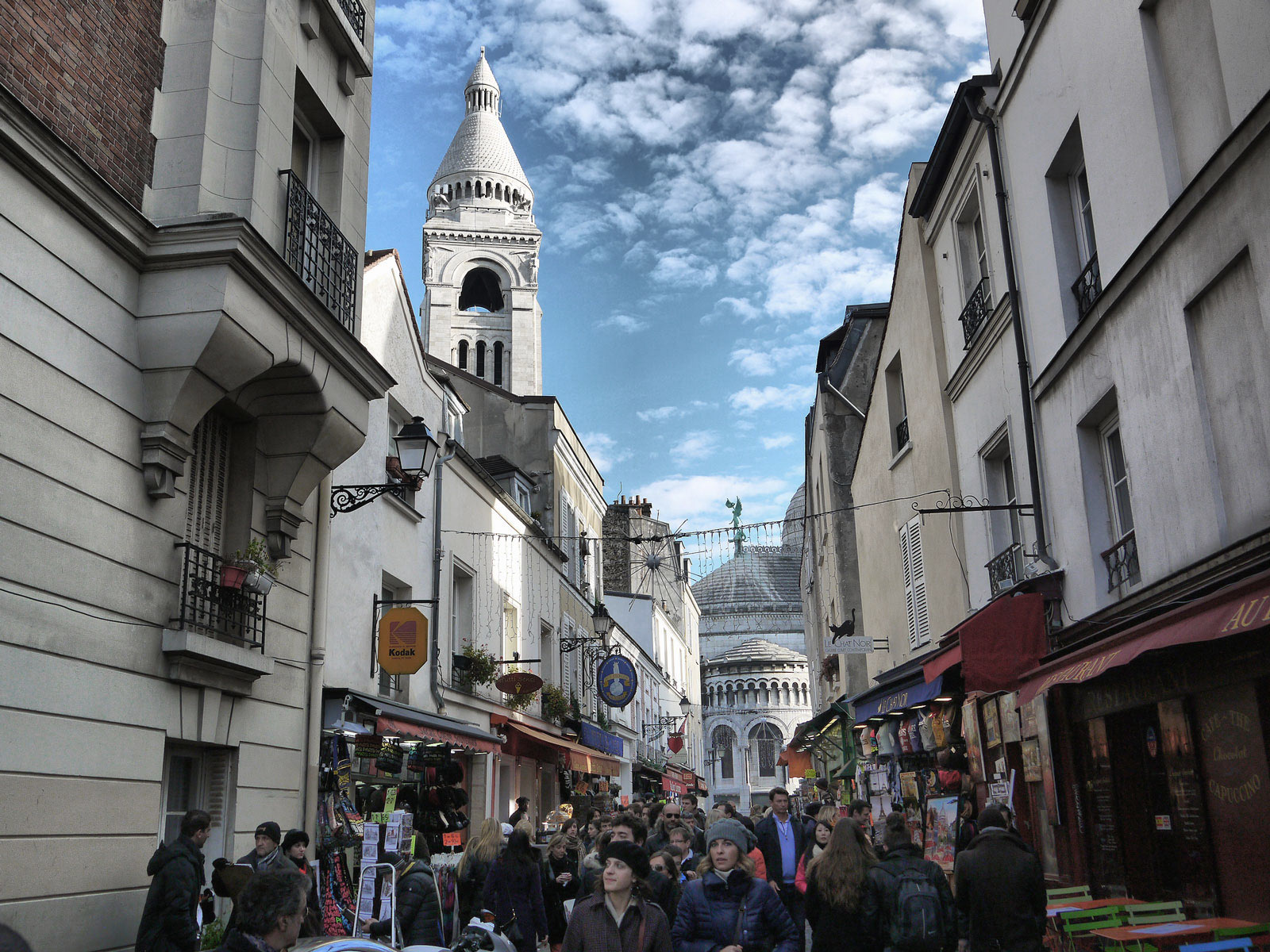 Strolling Through the Busy Montmartre Streets - Paris, France