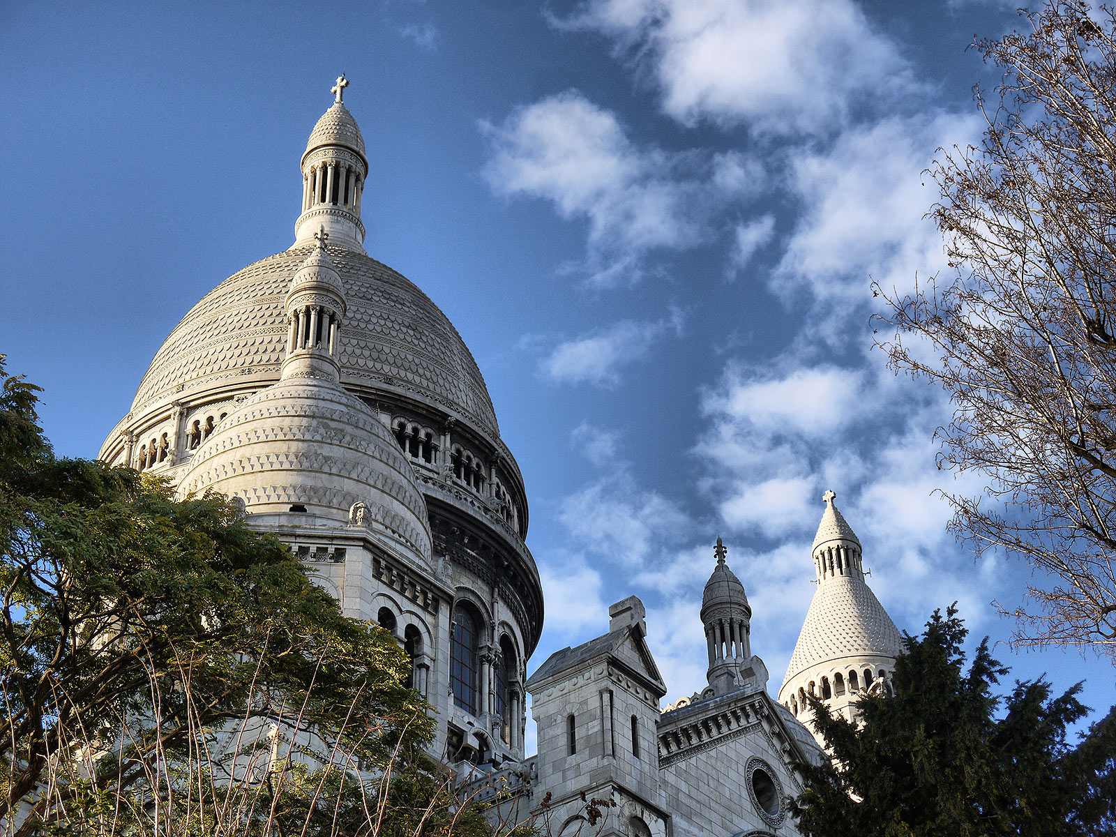 Looking Up at the Sacré-Coeur Basilica - Paris, France