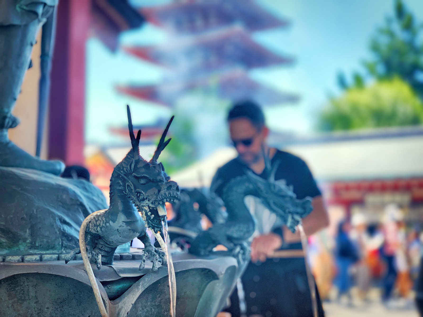 Senso-ji Temple: Purify Yourself at a Dragon Water Fountain - Tokyo, Japan