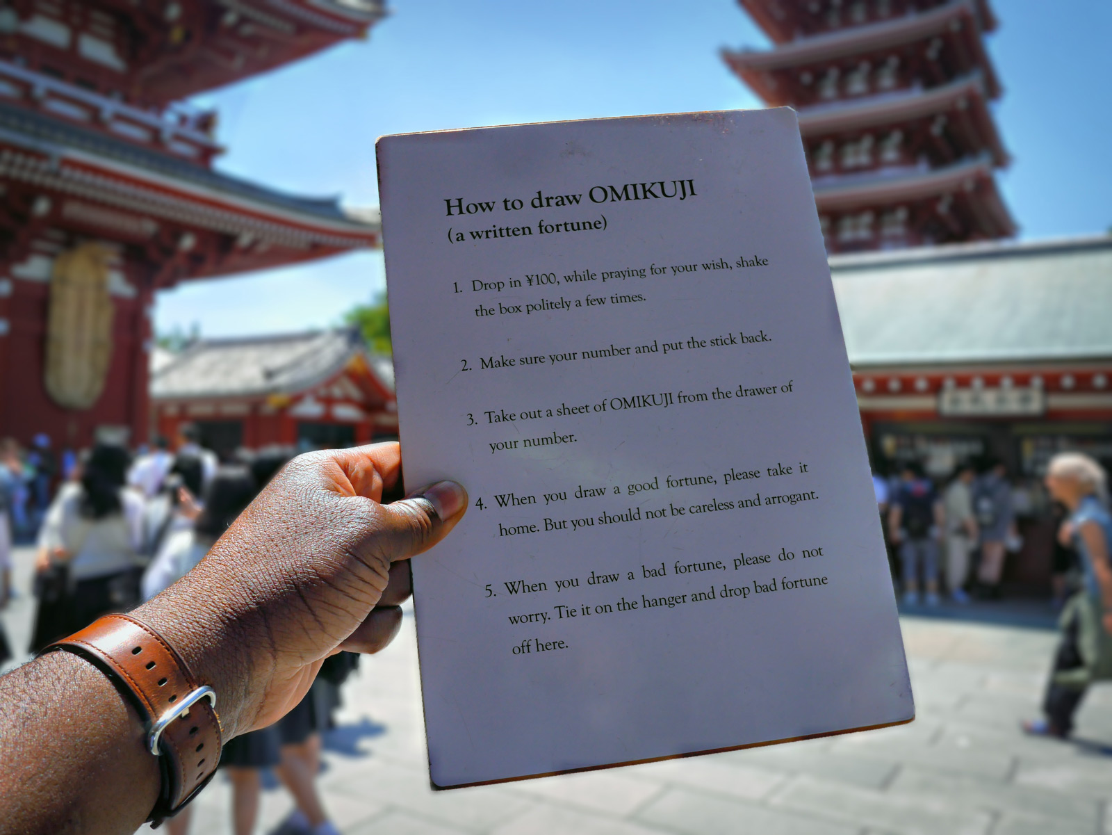 Discover How To Draw Your Written Fortune (Omikuji) - Tokyo, Japan